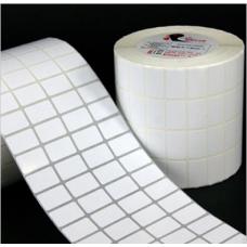 Giấy decal cuộn in tem nhãn mã vạch 25x15mm (4 tem/hàng)