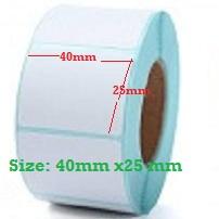 Decal cuộn in tem nhãn mã vạch, tem cân điện tử 40x25mm