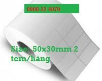 Giấy dán tem nhãn sản phẩm (decal in tem nhãn) 2 tem 50x30mm