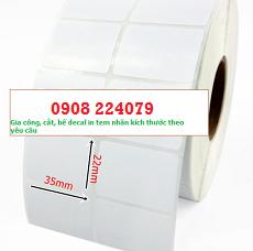 giấy dán tem nhãn sản phẩm (decal in tem nhãn) 35x22mm 2 tem