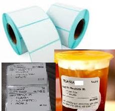 Tem nhãn (giấy decal cuộn) dán ly, chai, lọ, sành sứ
