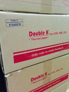 Đóng gói sản phẩm giấy in nhiệt Double K